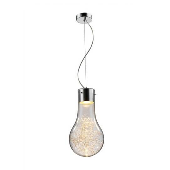 Lampa wisząca Ciro - Zuma Line - dekoracyjny, przezroczysty klosz