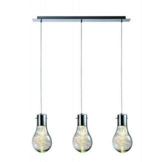 Potrójna lampa wisząca Ciro - Zuma Line - szklana