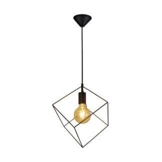 Industrialna lampa wisząca Cube - Zuma Line - sześcian, metalowy klosz