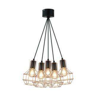 Industrialna lampa wisząca Giulio - Zuma Line - ażurowe klosze