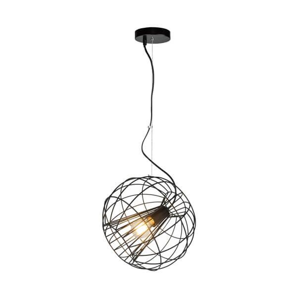 Metalowa lampa wisząca Marl - Zuma Line - ażurowy klosz