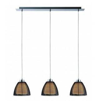 Potrójna lampa wisząca Pico - Zuma Line - szklane klosze