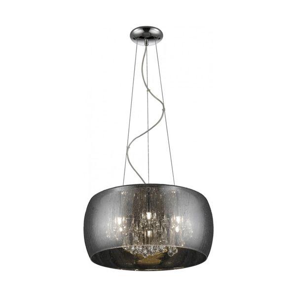 lampa wisząca w stylu glamour, kryształki w środku