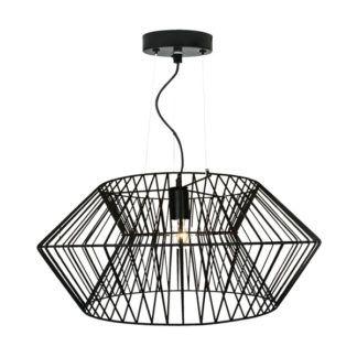 Industrialna lampa wisząca Verto - Zuma Line - ażurowy klosz z drutu