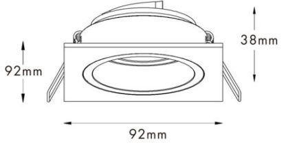 nowoczesne oczko sufitowe wpuszczane w sufit