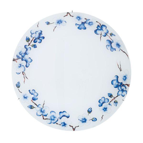 plafon w niebieskie kwiatki
