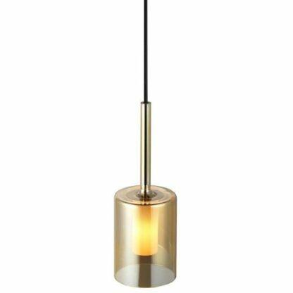 złota lampa wisząca ze szkła