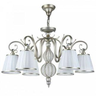 Luksusowy żyrandol Brezza - Maytoni - białe abażury