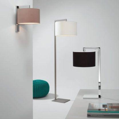 eleganckie, geometryczne lampy z abażurami