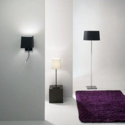 lampy proste, eleganckie, z materiałowymi abażurami
