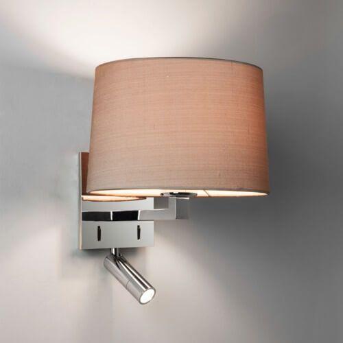 kinkiet z podwójnym światłem, klasyczna żarówka i nowoczesny reflektor do czytania