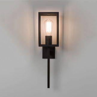 Szklany kinkiet Coach - Astro Lighting - dekoracyjna, czarna rama