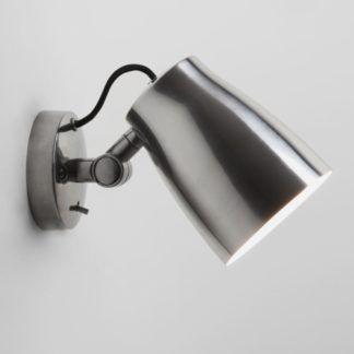 Srebrny kinkiet Atelier - Astro Lighting - metalowy, regulowany klosz