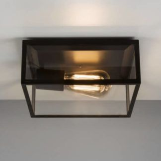 Lampa sufitowa Bronte - Astro Lighting - szklana, czarna