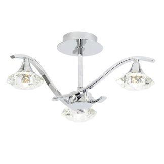 Srebrna lampa sufitowa Langella - Endon Lighting - szklane klosze