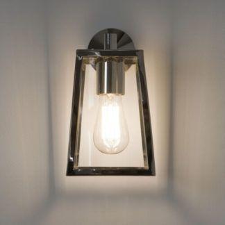 Szklany kinkiet Calvi - Astro Lighting - srebrna, metalowa rama
