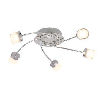Nowoczesna lampa sufitowa Ikos - Endon Lighting - mleczne klosze