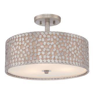 Lampa sufitowa Confetti – Ardant Decor – srebrna mozaika