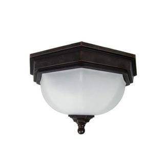 Lampa sufitowa Fairford – Ardant Decor – szkło, brązowe wykończenia