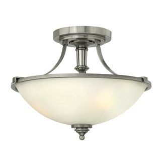 Lampa sufitowa Eliza – Ardant Decor – srebrna, szklany klosz, klasyczna