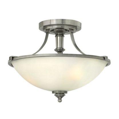 lampa sufitowa z mlecznym kloszem otwartym na sufit