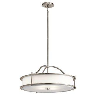 Lampa wisząca Emory – Ardant Decor – okrągły, biały abażur