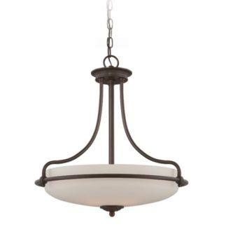 Lampa wisząca Griffin – Ardant Decor – szklany klosz, brązowa