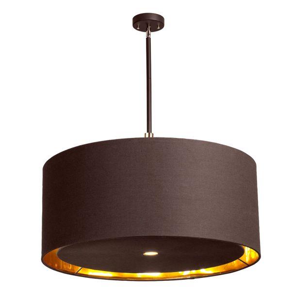 lampa wisząca z ciemnym abażurem
