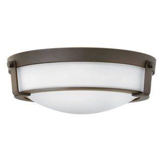 Klasyczny plafon Hathaway - Ardant Decor - mleczny klosz, brązowy