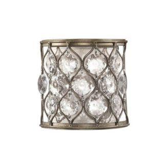 Dekoracyjny kinkiet Bella - Ardant Decor - srebrny, kryształki