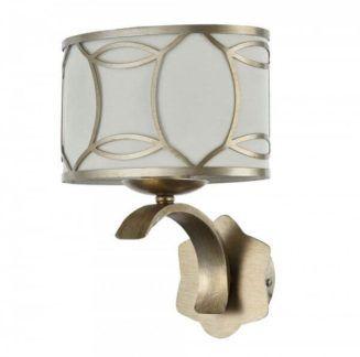 Elegancki kinkiet Fibi - Maytoni - złoty, biały abażur