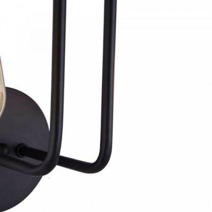 czarny, nowoczesny kinkiet z metalowych drutów