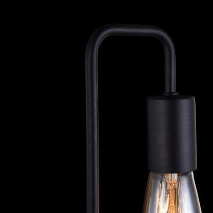 czarny, nowoczesny kinkiet druciany, na dwie żarówki