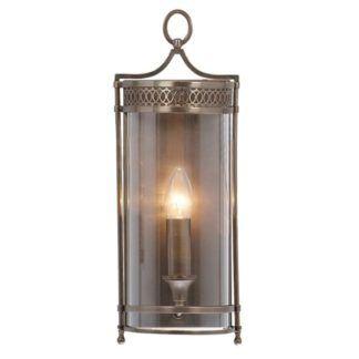 Oryginalna lampa ścienna Lantern – Ardant Decor – ciemny brąz