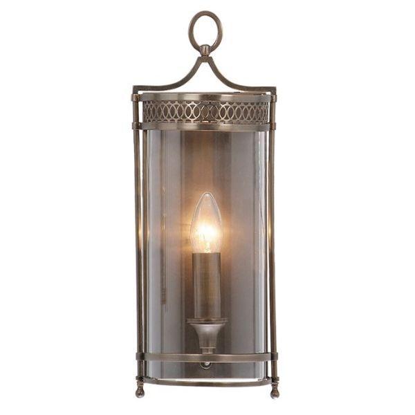 kinkiet latarenka, lampion, brązowy metal