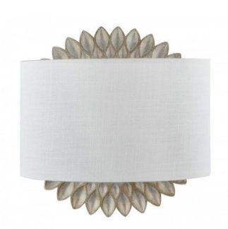 Dekoracyjny kinkiet Lamar - Maytoni - biały abażur