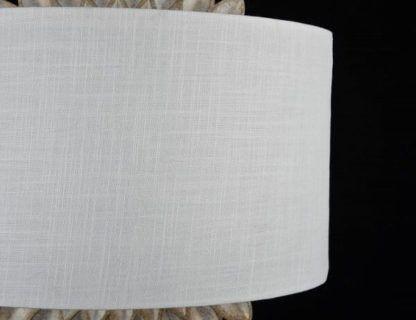oryginalny kinkiet z białym abażurem, elegancki