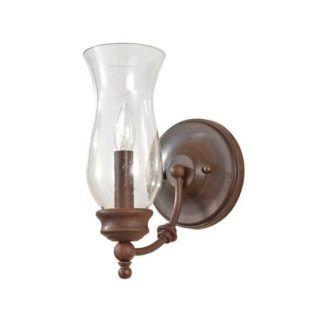 Szklany kinkiet Pickering - Ardant Decor - szklany, brązowy
