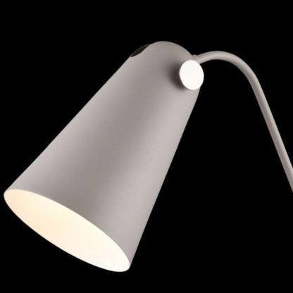 lampa biurkowa z metalowym, regulowanym, wydłużonym kloszem