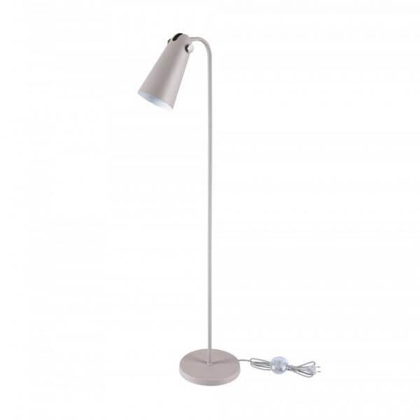 Nowoczesna lampa podłogowa Novara - Maytoni - szara, mobilny klosz