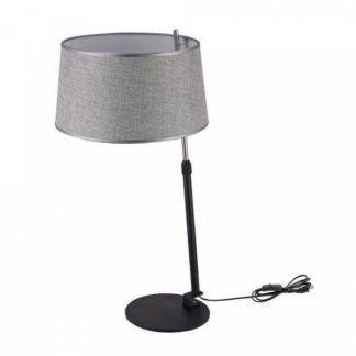Lampa stołowa Bergamo - Maytoni - szary abażur, nowoczesna