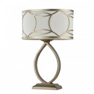 Lampa stołowa Fibi - Maytoni - złote zdobienia, kremowy abażur
