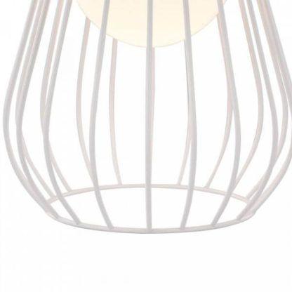 ażurowa lampa stołowa, biała, industrialna, skandynawska