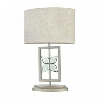 Dekoracyjna lampa stołowa Montana - jasny abażur