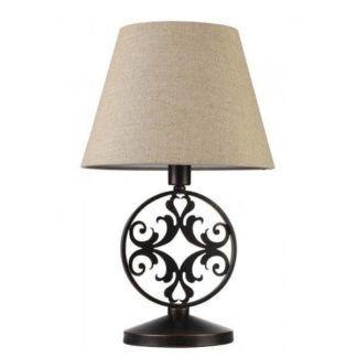 Dekoracyjna lampa stołowa Rustika - Maytoni - brązowa, beżowy abażur