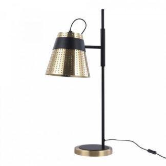 Metalowa lampa stołowa Trento - Maytoni - czarna, złota