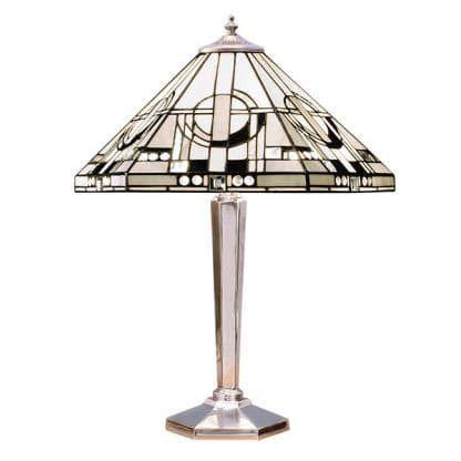 srebrna podstawa do lampy stołowej