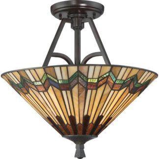 Lampa sufitowa Alcott - Ardant Decor - szkło witrażowe