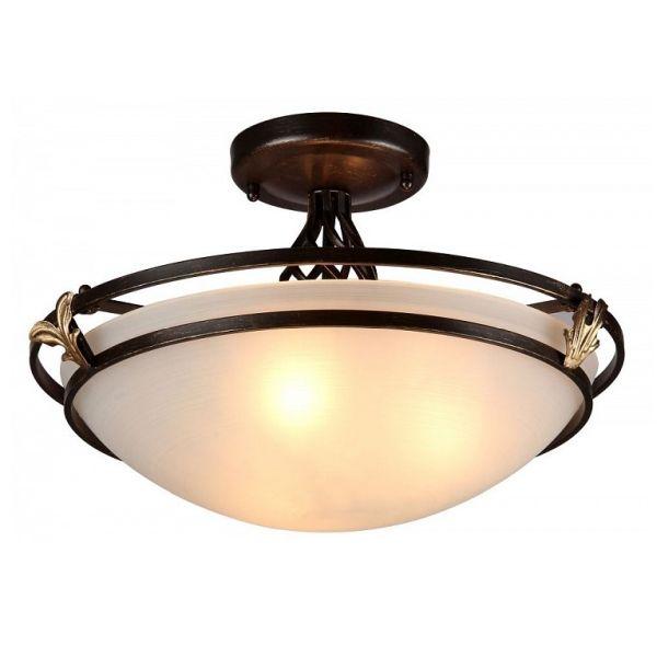 klasyczna lampa sufitowa z mlecznym kloszem