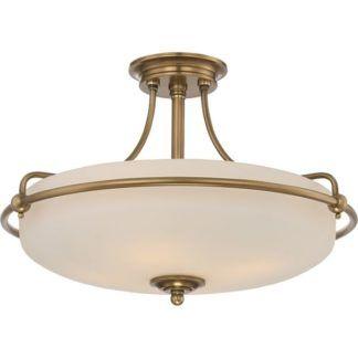 Lampa sufitowa Griffin – Ardant Decor – szklana, złota, klasyczna